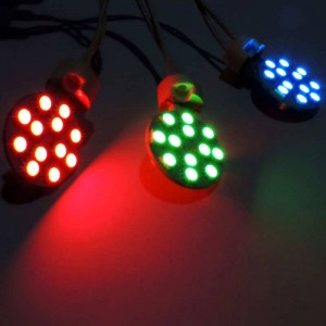 Lâmpada LED plana G4 Bi-Pin 2,3W monocor IP20