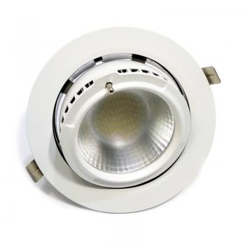 Downlight LED circular encastrável basculante 38W 60 °