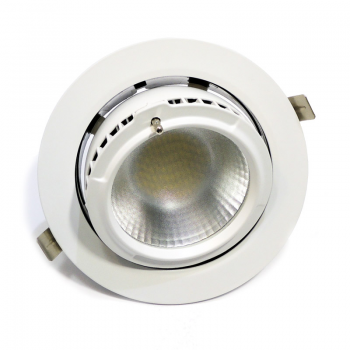Downlight LED circular encastrável basculante 38W 60 °
