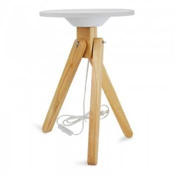 Candeeiro de mesa LED de madeira 11W