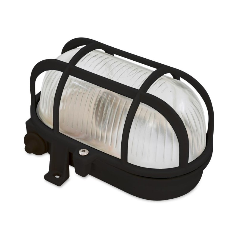 Aplique exterior oval tartaruga E27 IP44