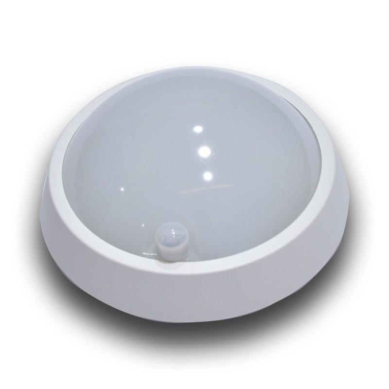 Aplique de parede LED 12W com sensor PIR IP64