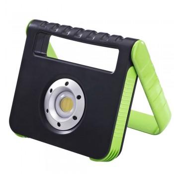 Projetor LED portátil recarregável USB 15W IP54 com powerbank