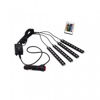 Kit LED para automóvel para RGB 12V com controlo por comando IR