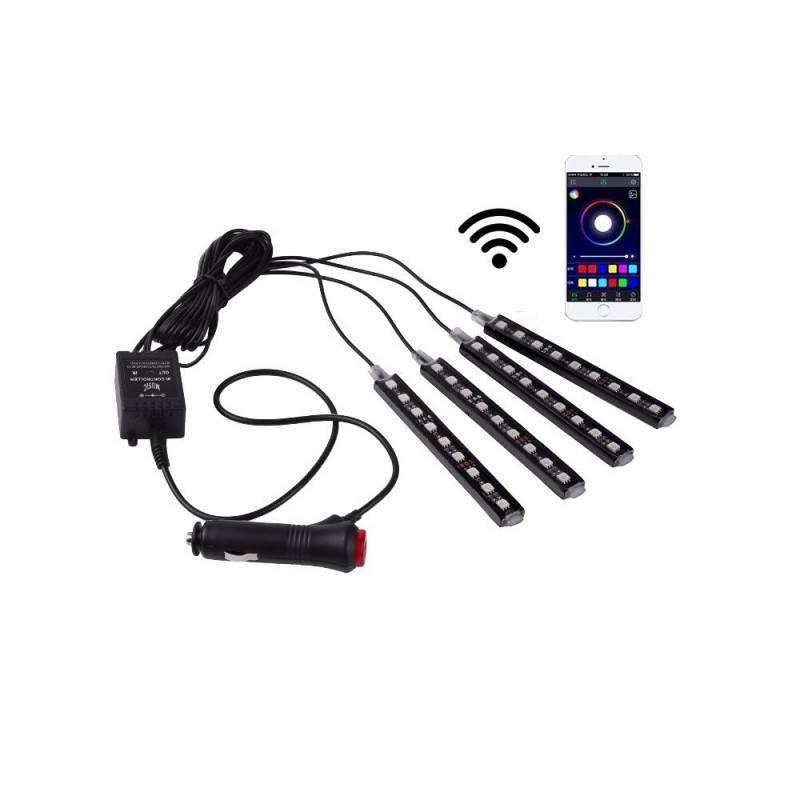 Kit LED para automóvel para RGB 12V com controlo móvel WIFI