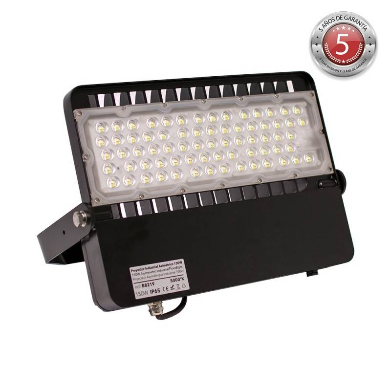 Foco projetor LED assimétrico 150W 19500lm IP65 - 5 anos de garantia