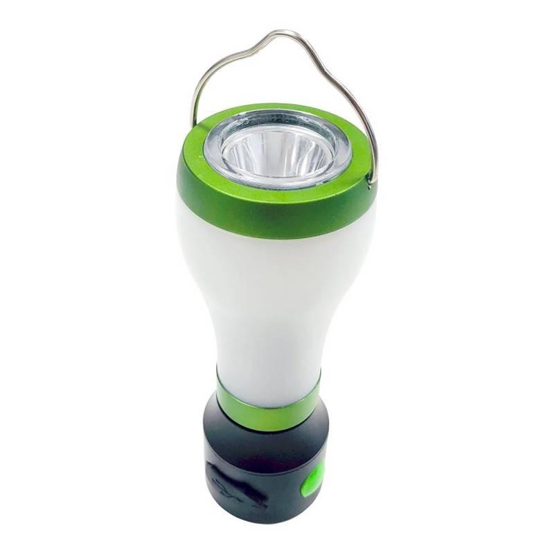 Candeeiro de campismo LED 3W com lanterna e powerbank USB