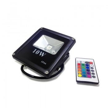 Foco projetor LED RGB 10W IP65