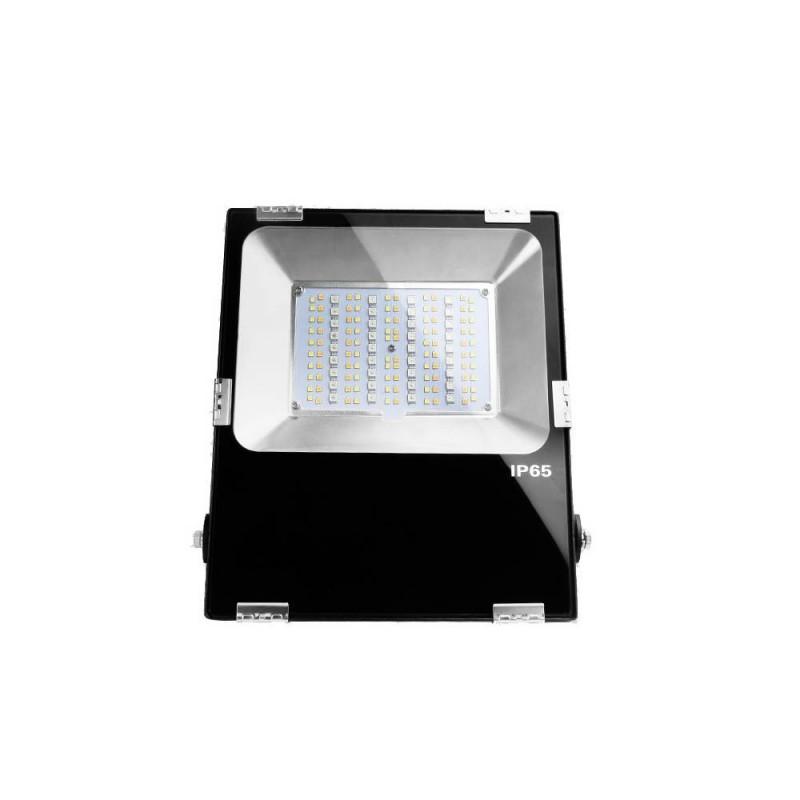 Foco projetor LED RGB+CCT 50W 4200lm - controlo por RF e WiFi - IP65