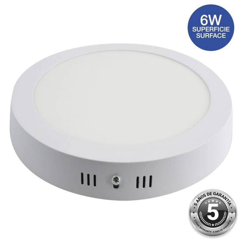 Plafón downlight LED 6W circular - 5 anos de garantia - IP20