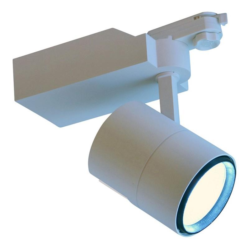 Projetor LED de Carril monofásica 25W Chip COB Driver PHILIPS 45°