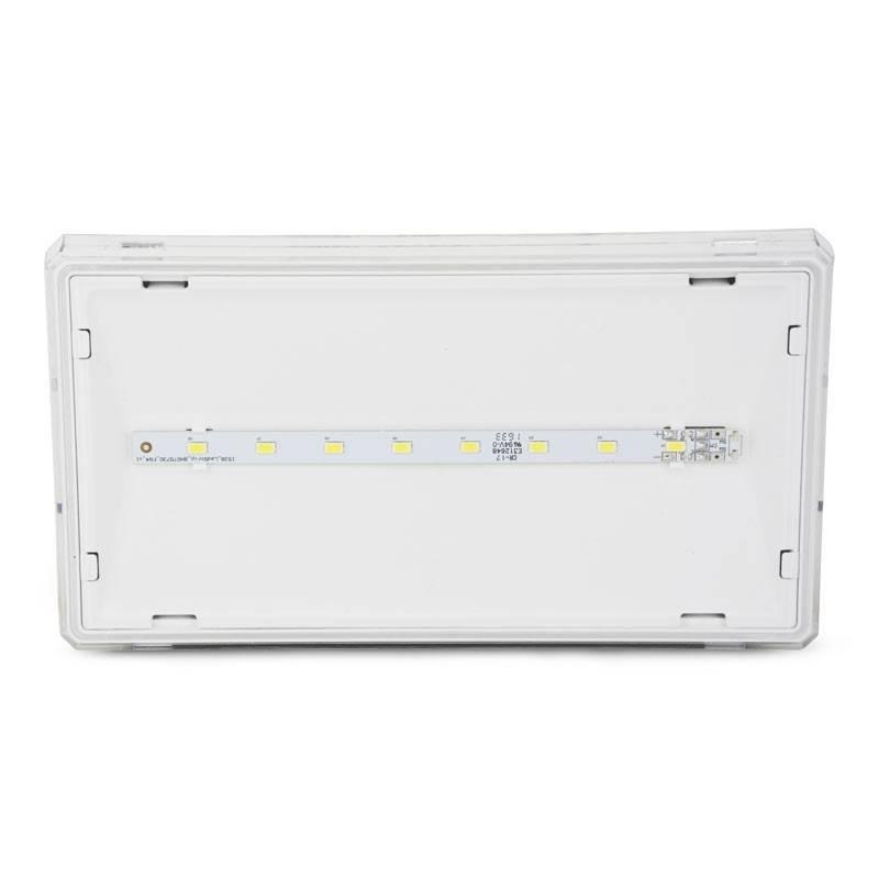 Luz de Emergência LED EXIT S 350 lumens IP42 para interior