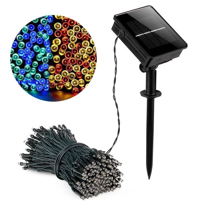 Grinalda LED Solar Multicolor com bateria integrada IP44