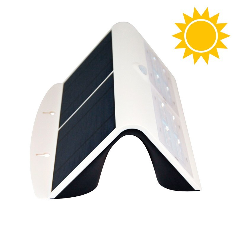 Candeeiro solar LED 7W para exterior IP65 com sensor PIR