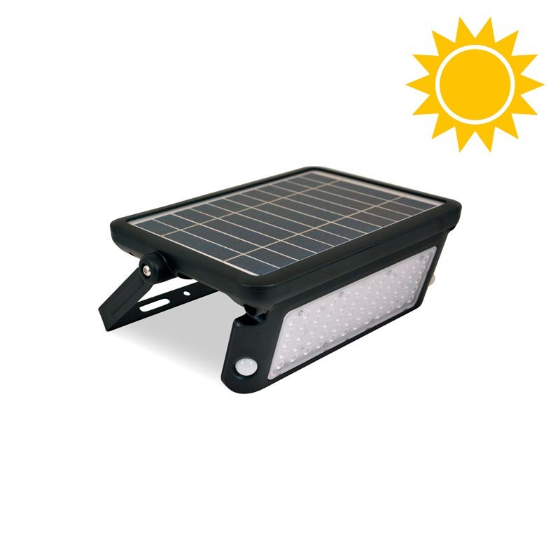 Candeeiro solar LED 10W para exterior IP65 com sensor PIR