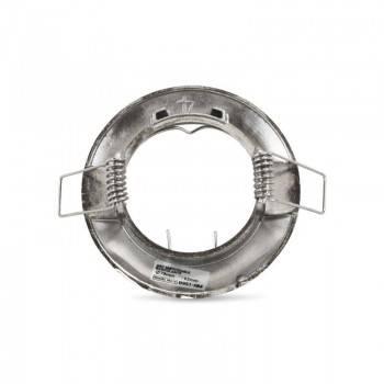 Aro downlight encastrável circular fixo para lâmpada GU10 / GU5.3