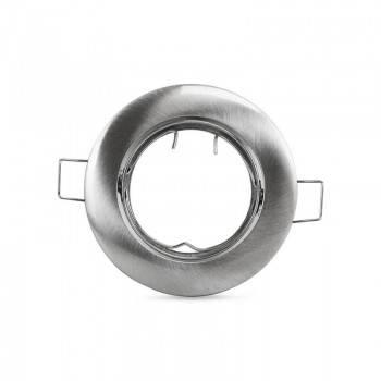 Aro downlight encastrável circular basculante para lâmpada GU10 / GU5.3