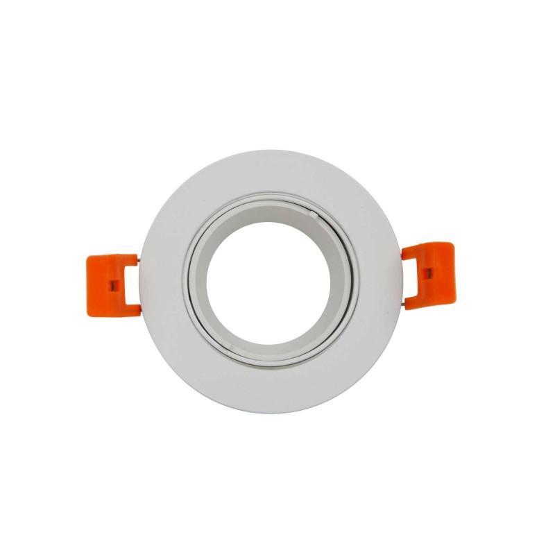 Aro downlight encastrável Ø85 mm basculante branco para GU10 / MR16