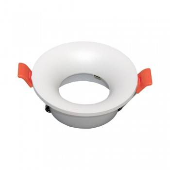 Aro downlight encastrável blindado para lâmpada GU10
