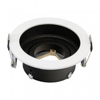 Aro encastrável redondo basculante para lâmpada GU10 / MR16