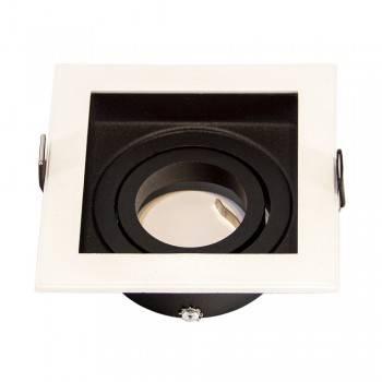 Aro encastrável quadrado basculante para lâmpada GU10 / MR16 IP20