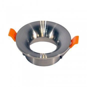 Aro encastrável redondo fixo para lâmpada dicroica GU10 / MR16