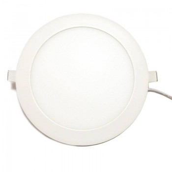 Placa downlight LED encastrável circular 20W