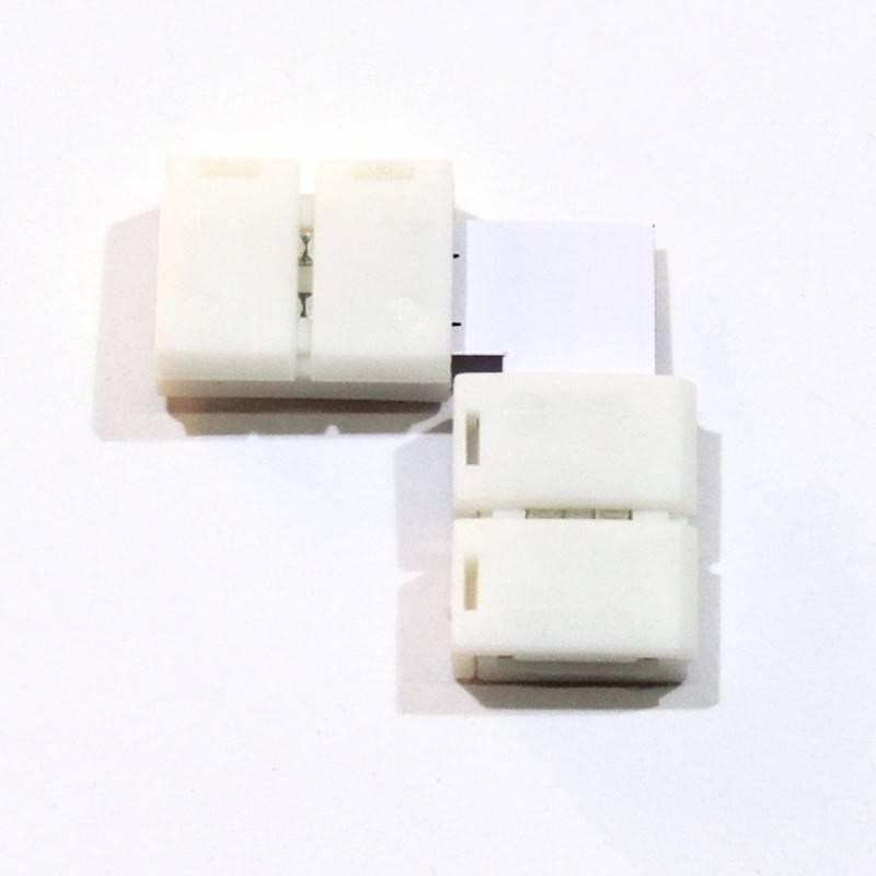 Conector para fitas LED 12V 8mm para esquinas 90°