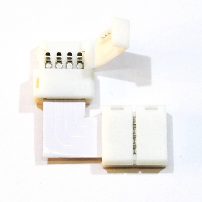 Conector para Fitas LED 12V RGB 10mm para esquinas 90°