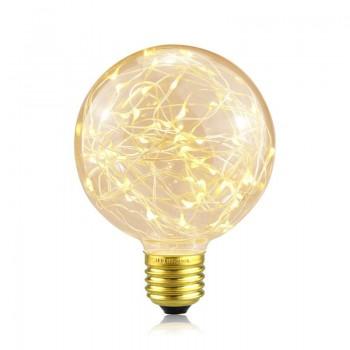 Lâmpada LED Globo E27 G125 Luz de fada 2W
