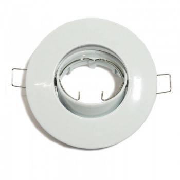 Aro downlight encastrável basculante Ø80/ Ø102 branco para GU10 / GU5.3