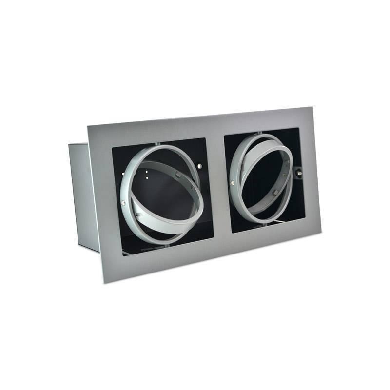 Kardan de aço para duas lâmpadas QR111 LED