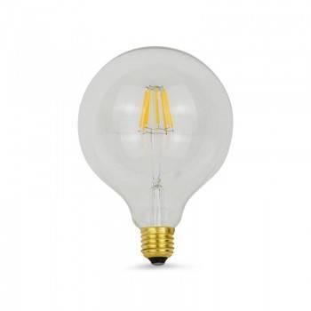 Lâmpada LED Globo de filamento E27 G125 8W transparente