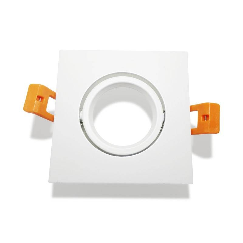 Aro quadrado encastrável basculante cor branco GU10 / GU5.3
