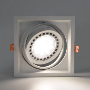 Embelezador Basculante tipo Kardan encastrável para uma lâmpada QR111