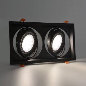 Embelezador tipo Kardan para duas lâmpadas QR111