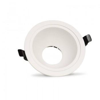 Aro downlight encastrável blindado Ø145mm para olho-de-boi