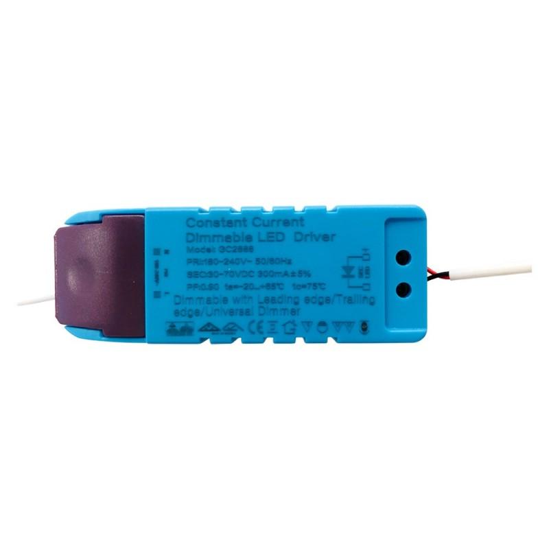 Driver atenuável / regulável para placas downlight LED 9-21W