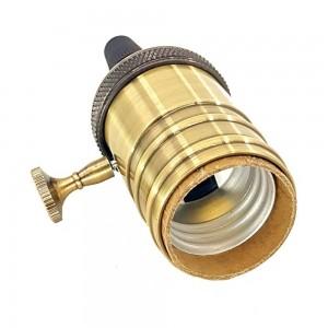 Porta-lâmpada E27 estilo vintage acabamento bronze com interruptor