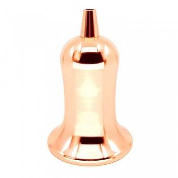 Porta-lâmpada E27 Bronze Rosado Campânula Vintage Series