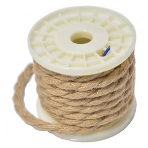 Cabo elétrico decorativo têxtil corda entrançado 2X0,75 - 5 metros