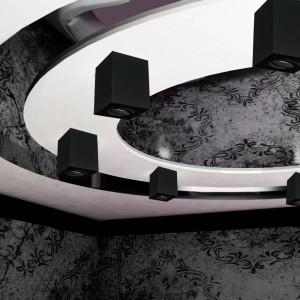 Aro de superficie cuadrado para dicroica GU10
