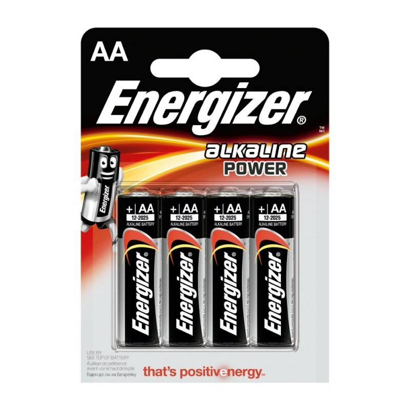 Pilha Energizer Alkaline Power LR6 (AA) Blister de 4 Um.