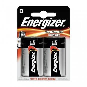 Pilha Energizer Alkaline Power LR20 (D) Blister de 2 Un.