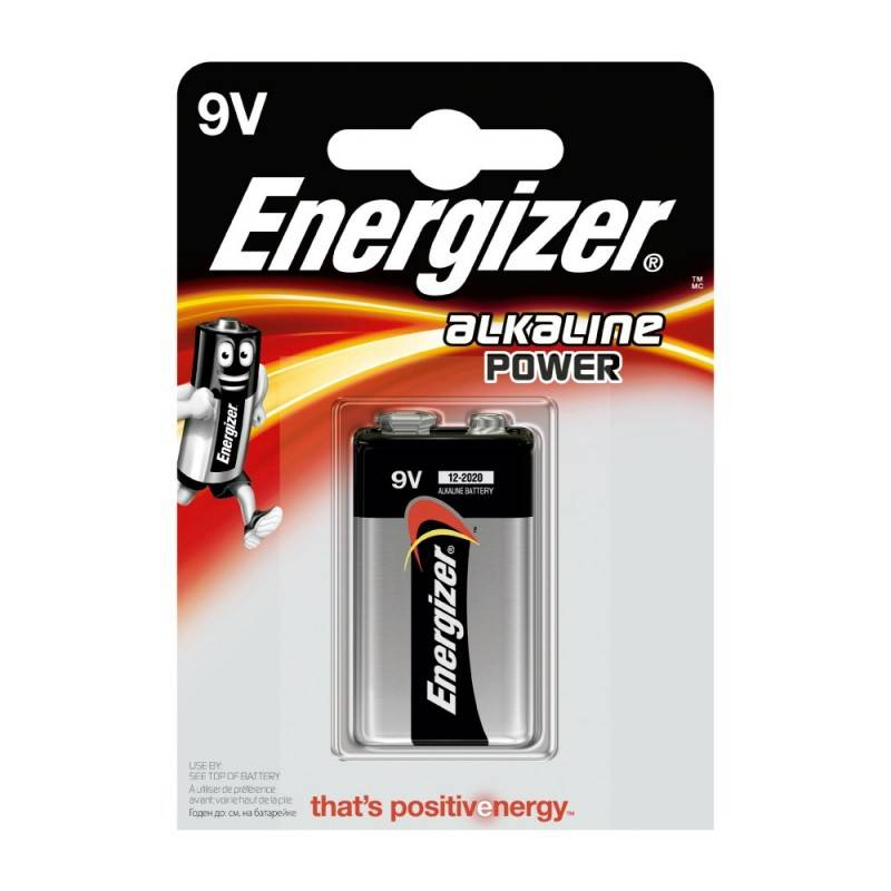 Pilha Energizer Alkaline Power 6LR61 (9V) Blister de 1 Um.