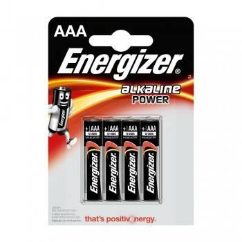 Pilha Energizer Alkaline Power LR03 (AAA) Blister de 4 Un.