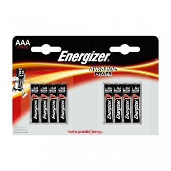Pilha Energizer Alkaline Power LR03 (AAA) Blister de 8 Um.