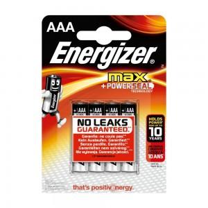 Pilha Energizer Max LR03 (AAA) Blister de 4 Un.