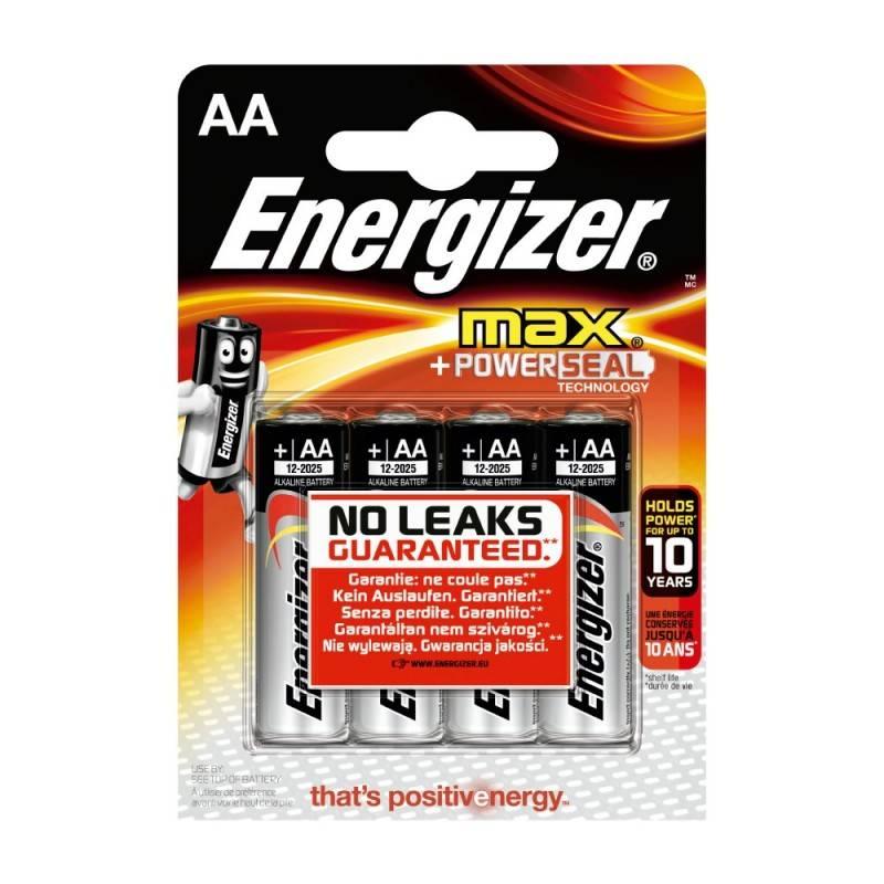 Pilha Energizer Max LR6 (AA) Blister de 4Un.