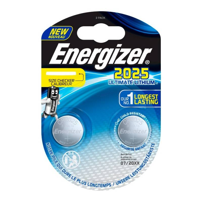 Pilha Energizer CR2025 Lithium Performance, Blister de 2Un.